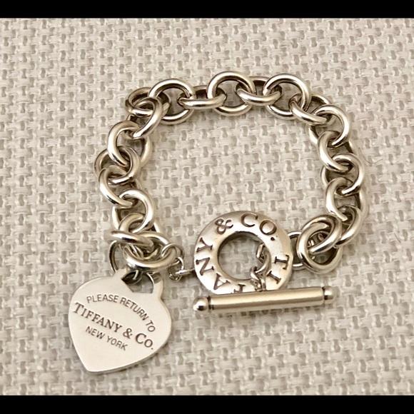 0dd8ac1f3 Authentic Tiffany heart tag toggle bracelet. M_5b848d7c5bbb8093eb850855